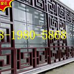 江西省景德镇街道改造仿古木纹铝窗花/仿古铝花格/铝挂落定制厂家