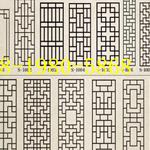 厂家定制复古铝合金窗花/仿古铝窗花/仿木纹铝合金花格窗/铝花格