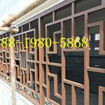 定制江西省街道改造铝合金窗花_焊接铝花格窗_防盗木纹铝花格窗
