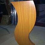 安徽马鞍山木纹铝方通厂家,焊接铝型材造型方通,定制弧形铝方通
