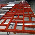 江苏常州市街道改造仿古木纹铝窗花厂家,铝合金花格/铝屏风定制