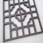 铝窗花厂家/供应木纹色铝窗花/街道仿古铝窗花