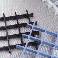 全国铝格栅 德普龙三角铝格栅木纹铝格栅吊顶厂家直销铝
