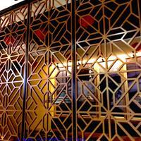 中山门楼庭院铝花格 铝窗花 铝板雕花 铝挂落