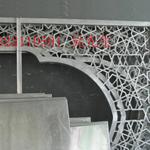 江西门楣装饰铝合金挂落,木纹复古挂落,铝挂落定制厂家