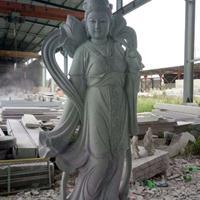 厂家直销汉白玉何仙姑雕刻大理石定制八仙