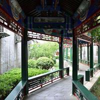 旅游景区复古装饰窗花,复古隔断屏风,木纹铝挂落/生产厂家