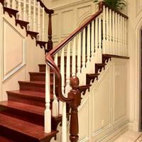 【厂家直销】武汉定制原木楼梯、钢木楼梯、护栏、护墙板、踢脚线