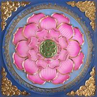 古建彩绘艺术圆圈藻井吊顶彩绘横梁板材