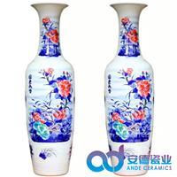 禮品大花瓶 瓷器大花瓶定制 景德鎮陶瓷花瓶 定制3米大花瓶