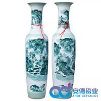 開業大花瓶定制 景德鎮陶瓷花瓶廠家價格瓶地大花瓶定制廠家