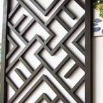 宜春市街道改造仿木铝合金窗花格定制供应厂家