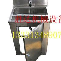 多人位脚踏出水304不锈钢洁净间用方形洗手池可加工定制