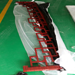 厂家专业从事铝合金挂落焊接加工-喷塑木纹色铝挂落
