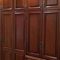 长沙美式实木家具定制、实木衣帽间、木门订制厂家质检