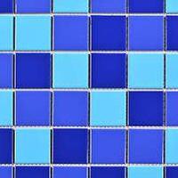 蓝色泳池马赛克陶瓷马赛克瓷砖适用泳池墙地砖