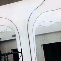圆柱 灯柱 灯箱广告牌LED拉布卡布灯箱定做型材挂墙式无边框超薄