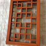定制木纹色铝窗花,仿古花格,铝合金窗/***厂家