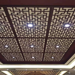 热转印木纹中式铝窗花格与复古氟碳铝格栅窗花各放异彩