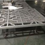 供应防盗铝花格,中式铝窗花,铝方管焊接木色窗花