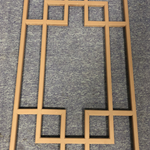 定制复古窗户-柚木木纹铝窗花-仿木单色花格/***厂家