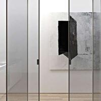 2018新款米兰时尚设计吊门 铝合金黑色边框吊趟门 移门 佛山厂家
