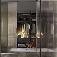 佛山萨洛德 黑色现代简约吊趟门 铝合金客厅/厨房隔断玻璃门