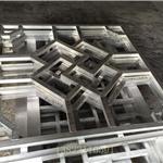 定制铝窗户-檀木木纹铝窗花-仿木单色铝花格/***厂家