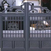 北京供應庭院別墅大門,防盜鋁藝門,鐵藝門,遙控平移門平開門