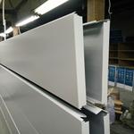 加油站天花平面 条状白色铝条扣定制生产防风效果好