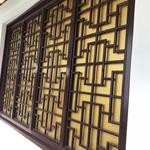 中式热转印木纹铝型材窗花,仿古铝窗花,仿古木纹防盗窗/定做