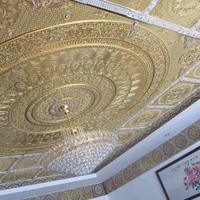 环保古建寺庙佛堂新式彩绘艺术圆圈藻井吊顶