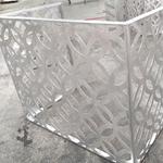 石城县沿街立面改造\仿古铝花格\铝空调罩\厂家定制