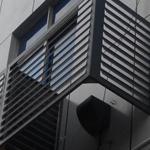 街道铝合金空调罩,复古街道改造专用空调罩