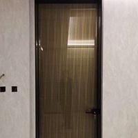 佛山厂家 萨洛德门业 较简玻璃平开门 黑框钢化玻璃门 玻璃门定制