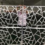 广州厂家专业焊接加工冰裂纹铝窗花处理表面颜色