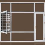 108断桥隔热窗纱一体平开窗 家用防盗 立体美观 节能 隔热隔音