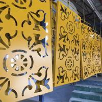 广告牌铝单板装饰 门头为什么很多都是用镂空雕刻铝单板装饰
