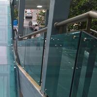 南海顺德禅城10厘蓝色钢化玻璃