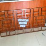 铝材仿木铝窗格,铝合金花格定制木纹色咖啡色厂家