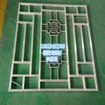 复古铝花格 木质色铝花格 铝窗挂落学校改造专项使用价