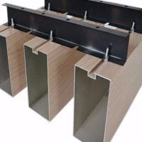 外墙铝格栅-铝合金方通格栅规格表