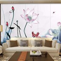 上海硬包客厅背景墙山水挂画