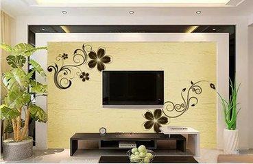 硅藻泥电视墙可以这么装  2018硅藻泥电视墙图画
