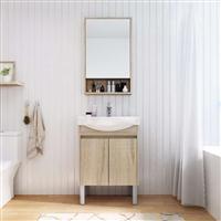 佛山厂家直销实木免漆落地浴室柜小户型卫生间洗手脸盆卫浴柜组合