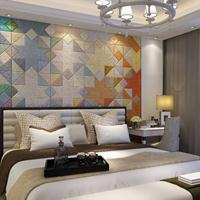 品革背景墙 皮雕艺术 卧室背景墙精选 背景墙招商