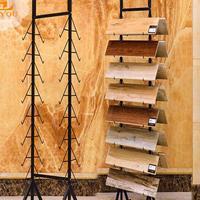 瓷砖展示架 集成吊顶铝扣板展架 橱柜门艺术玻璃展架300*300