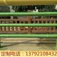 厂家定制各种款式水泥仿木护栏 仿竹护栏