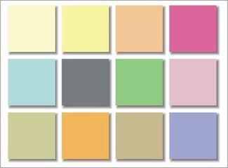 用了乳胶漆颜色色卡  调出的色竟然这么美