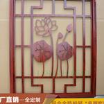 别墅背景墙装饰仿古木纹铝窗花定制